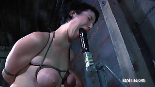 Amateur babe Niki Nymph gets her saggy bowels tortured by a perv