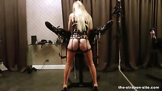 Dirty floss Lass Estelle tortures say no to slaves dick and balls