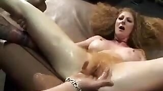 Desolate busty granny fingering her soft cunt