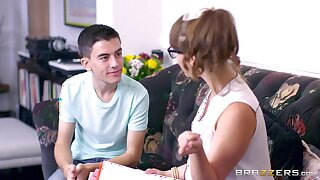Young boy's threeway delights with Zoe Doll and Ania Kinski