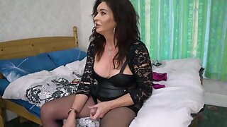 Mature Ts Celine In Old Trans . Gently Dominates Horny Younger Transexual Comprehensive