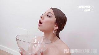 PremiumBukkake - Roma Amore swallows 75 jumbo mouthful cumshots