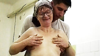 83 years old granny rough fucked