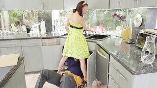 McKenzie Lee maroon housewife gets stuffed with 2 monster cocks