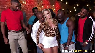 Party fast bootyful blonde slut Candice Dare is ready for interracial pack prosperity