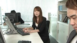 Messy fucking in the office with seductive secretary Ichika Kamihata