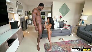 Micro Stallion And Jax Slayher In Ebony Teen Micro Tries Her Best To Hide Unfamiliar This Gig