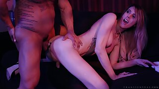 Skinny shemale gets ass fucked in incredible doggy scenes